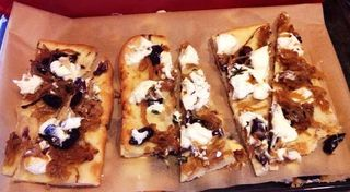 Olive Goat Cheese and Caramelized Onion Tart